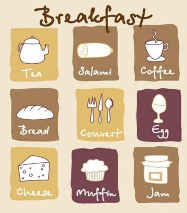 free vector Breakfast lovely pictures vector