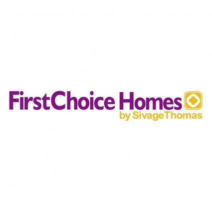free vector First choice homes 0