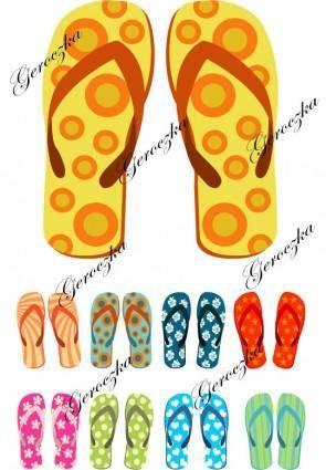 free vector Sandals vector
