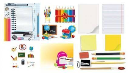 free vector Student stationery vector