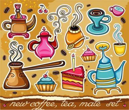 Lovely coffee vector