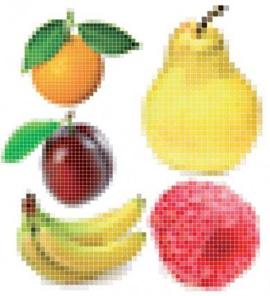Pixel vector fruits