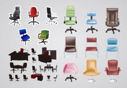 free vector Office furniture vector