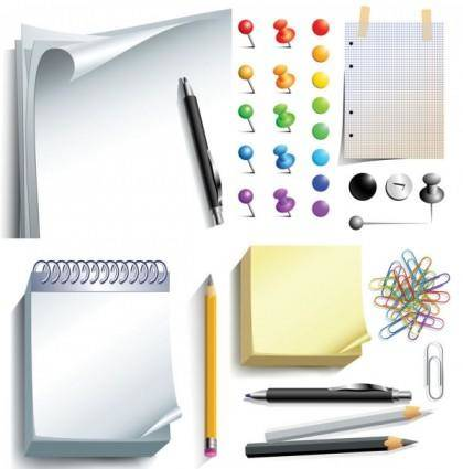 Vector office supplies