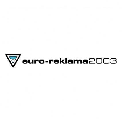 free vector Euro reklama 2003