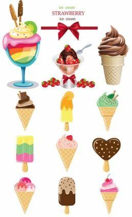 free vector Icecream color vector