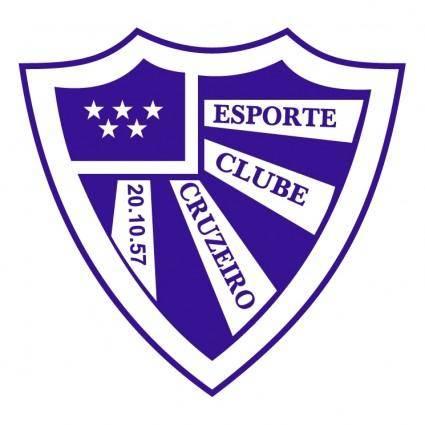 free vector Esporte clube cruzeiro de santa clara do sul rs