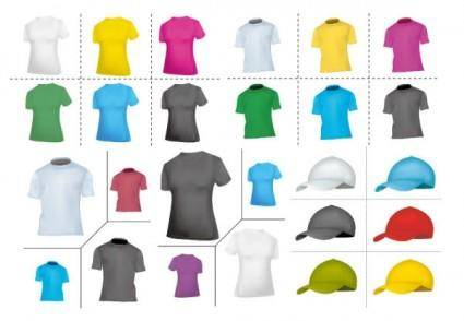 free vector Blank tshirt hat vector