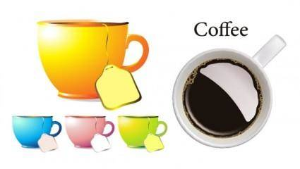 free vector Cups and coffee mugs vector