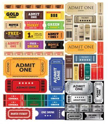 free vector European and american movie ticket clip art