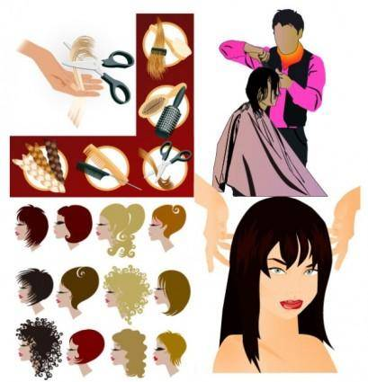 Hair theme vector