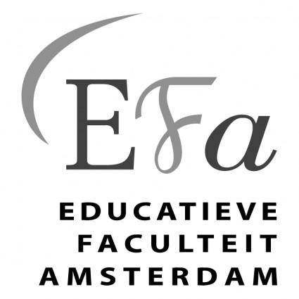 free vector Educatieve faculteit amsterdam