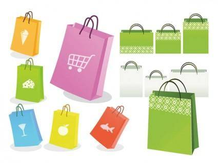 free vector Vector colorful bag