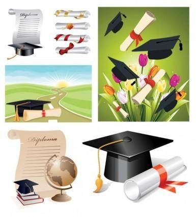 free vector School graduation clip art