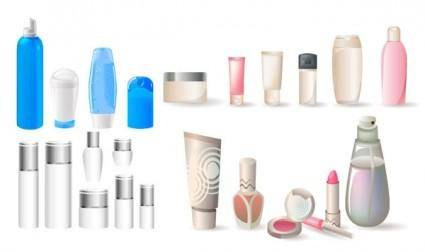 free vector A variety of cosmetic bottles vector