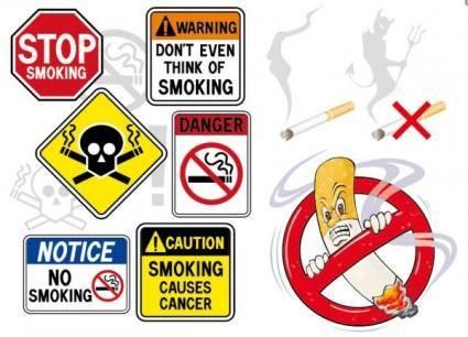 free vector No smoking theme vector