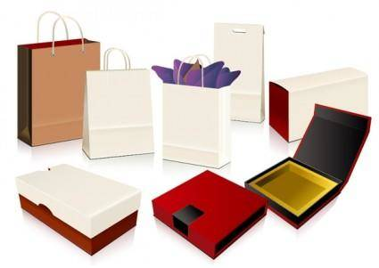 free vector Empty shopping bag packaging vector