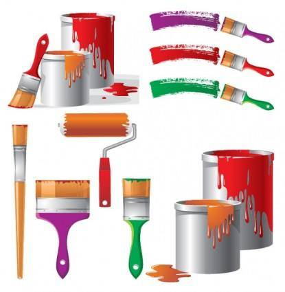 free vector Painting theme vector