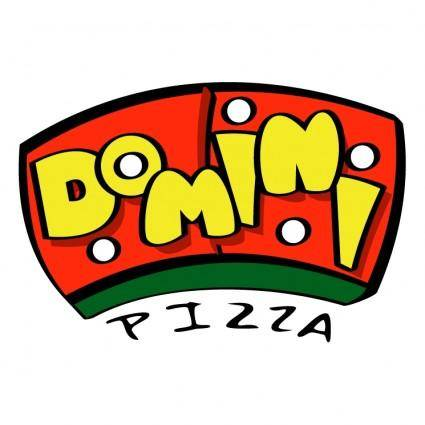 free vector Domini pizza
