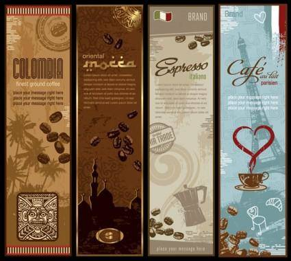 free vector Coffee bnner theme vector