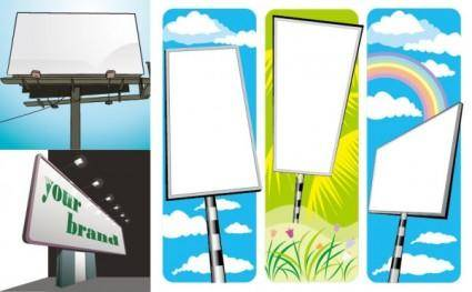 free vector Blank billboard vector