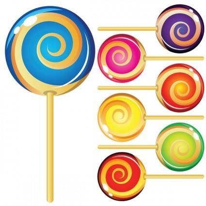 free vector Colorful lollipop vector