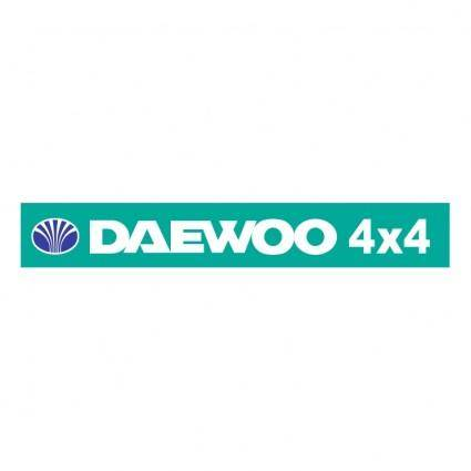 free vector Deawoo 4x4