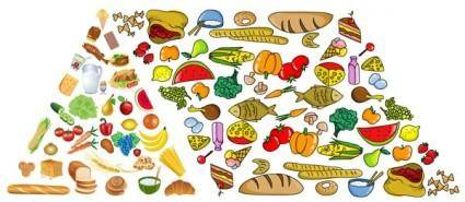 free vector Food pyramid vector