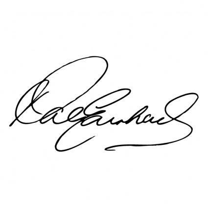 free vector Dale earnhardt signature