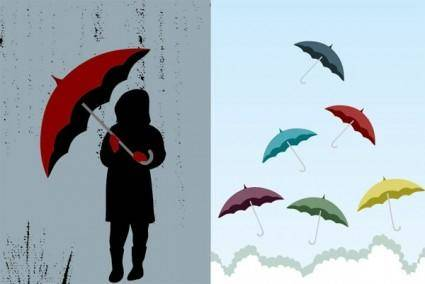 Umbrella theme of vector