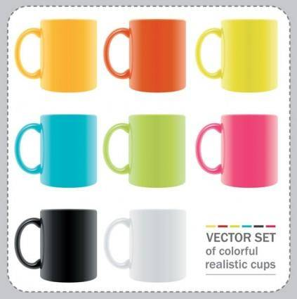 free vector Vector colorful mug