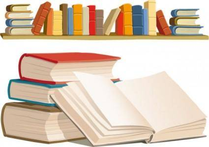 free vector Book shelves vector