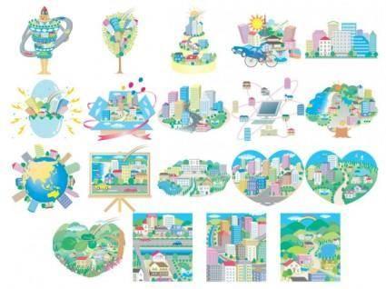 free vector Vector illustration urban theme