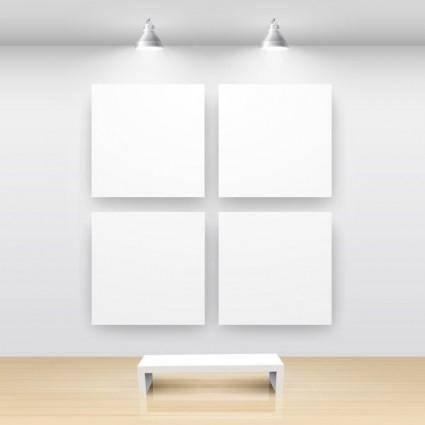 free vector Exhibition gallery template vector 1