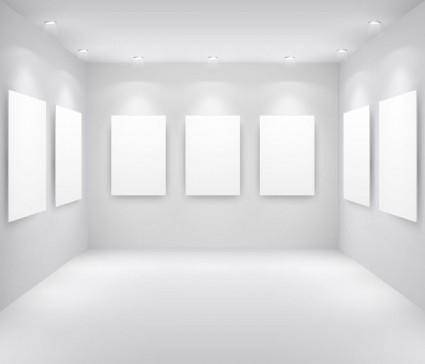 Exhibition gallery template vector 2