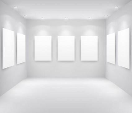 free vector Exhibition gallery template vector 2