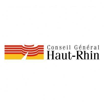 free vector Conseil general du haut rhin