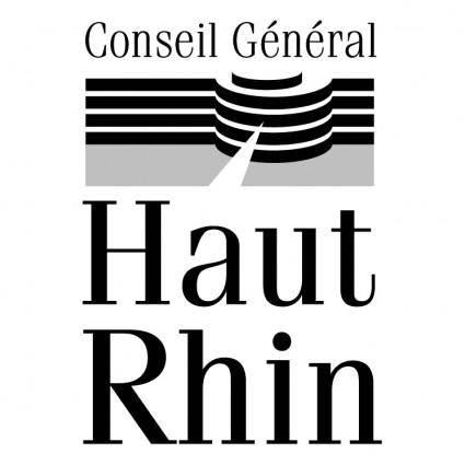 free vector Conseil general du haut rhin 2