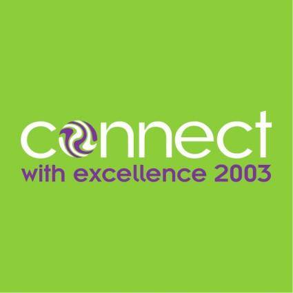 free vector Connect with excellence 2003