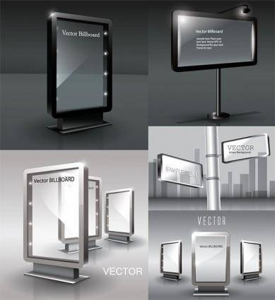 free vector Blank billboards vector