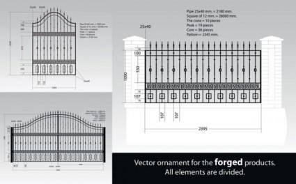 free vector Europeanstyle iron fence vector