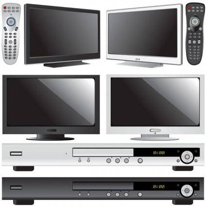 free vector Tv and dvd player vector