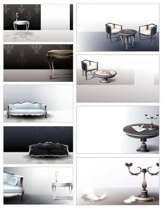 free vector European classical vector 2 household items
