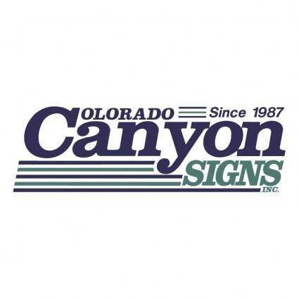 Colorado canyon signs inc