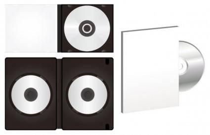 free vector Blank cd dvd packaging vector