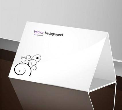 free vector Beautiful table card vector