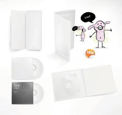 free vector Simple cd packaging 01 vector
