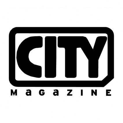 free vector City magazine