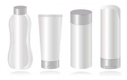 Cosmetic container 02 vector