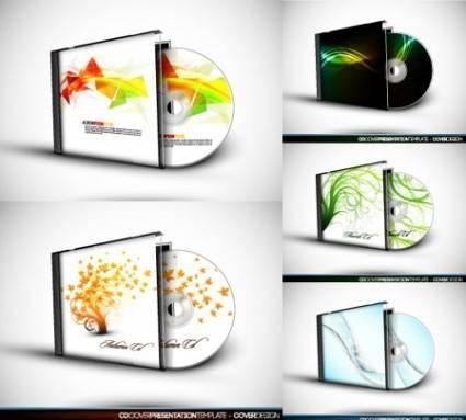 free vector Cd box and cd vector